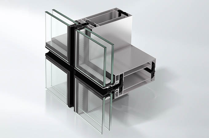 Stick curtain walling system component part